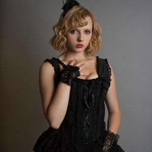 Dresses & Skirts - Black Laced Steampunk corset Dress